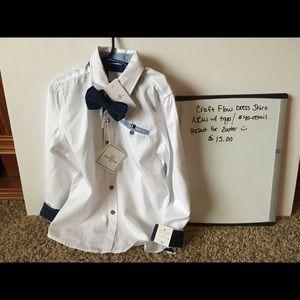 Other - Craft Flow Dress Shirt w/ velvet bow tie